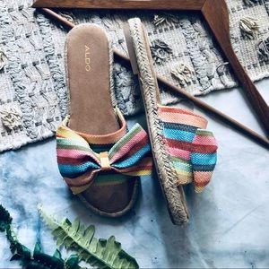 Aldo Elroita Espadrille Rainbow Bow Sandals (9)